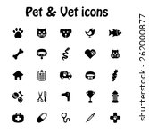 Pet And Veterinary Icon Set  ...
