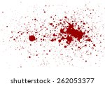 abstract splatter red color... | Shutterstock .eps vector #262053377