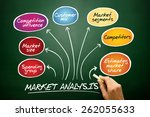 market analysis diagram ... | Shutterstock . vector #262055633