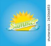 beautiful summer illustrations .... | Shutterstock .eps vector #262066853