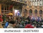venice  italy   february 8 ... | Shutterstock . vector #262076483
