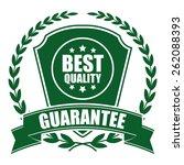 green best quality guarantee... | Shutterstock . vector #262088393