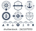 set of nautical logos  badges... | Shutterstock .eps vector #262107053