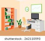 green orange eco office.... | Shutterstock .eps vector #262110593