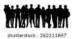 black silhouette of a large... | Shutterstock . vector #262111847