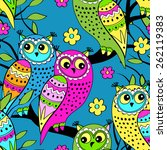 vector seamless patterns with... | Shutterstock .eps vector #262119383