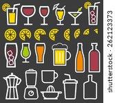 beverage vector thin line...   Shutterstock .eps vector #262123373