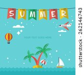 summer holiday vacation poster... | Shutterstock .eps vector #262146743