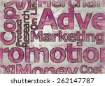 advertising words | Shutterstock . vector #262147787