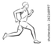 man jogging in vector format