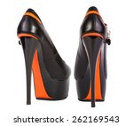 elegant black high heel women... | Shutterstock . vector #262169543