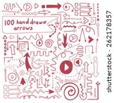 100 perfect vector hand drawn... | Shutterstock .eps vector #262178357