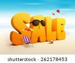 3d dimensional sale title words ... | Shutterstock . vector #262178453