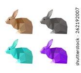 rabbit painted in imaginary... | Shutterstock .eps vector #262192007