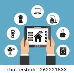 smart house design  vector... | Shutterstock .eps vector #262221833