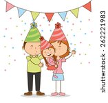 happy birthday design  vector... | Shutterstock .eps vector #262221983