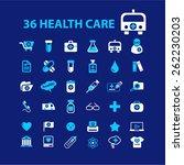 36 health care  medicine ... | Shutterstock .eps vector #262230203