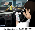 transportation and vehicle... | Shutterstock .eps vector #262257287