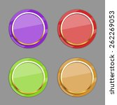 vector color circle buttons. | Shutterstock .eps vector #262269053