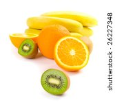 kiwi  oranges and bananas...   Shutterstock . vector #26227348