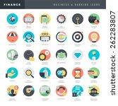 set of flat design icons for... | Shutterstock .eps vector #262283807