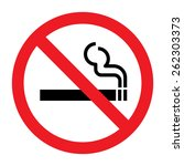 no smoking sign | Shutterstock .eps vector #262303373