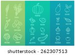 vegetable icon  | Shutterstock .eps vector #262307513