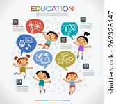 infographics education... | Shutterstock .eps vector #262328147