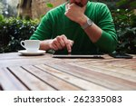 cropped image male freelancer... | Shutterstock . vector #262335083