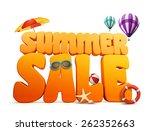 3d dimensional summer sale... | Shutterstock . vector #262352663