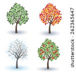 artistically painted small... | Shutterstock .eps vector #262365647