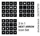 60  big next arrow icon set...
