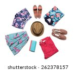 collection of bright summer... | Shutterstock . vector #262378157