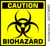 caution biohazard sign | Shutterstock . vector #262378883