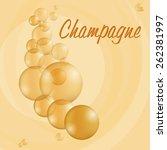 sparkling bubbles of fresh... | Shutterstock .eps vector #262381997