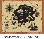 pirate map pattern | Shutterstock .eps vector #262392233