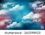 digital abstract business... | Shutterstock . vector #262398923
