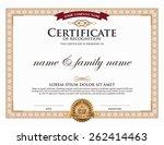 certificate template. | Shutterstock .eps vector #262414463
