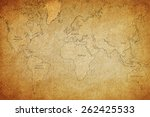 map of the world | Shutterstock . vector #262425533