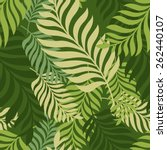green palm tree leaves. vector... | Shutterstock .eps vector #262440107