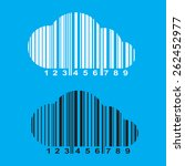 vector barcode in the form of a ... | Shutterstock .eps vector #262452977