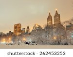 Central Park Winter At Night...