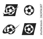 swoosh soccer ball logo icon | Shutterstock .eps vector #262456187