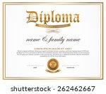 diploma  certificate design... | Shutterstock .eps vector #262462667