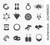 set of jewelry icons. earrings... | Shutterstock .eps vector #262480823