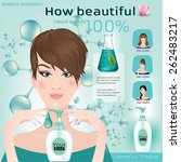 face creams using infographics. ... | Shutterstock .eps vector #262483217