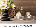 beautiful spa composition with... | Shutterstock . vector #262502477