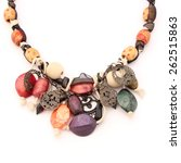 Colorful Stone Jewelry Necklac...
