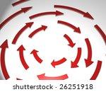arrows bended | Shutterstock . vector #26251918