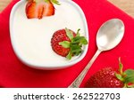 dessert with ripe strawberry | Shutterstock . vector #262522703